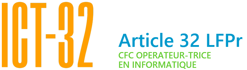 ICT-32, un CFC en informatique en cours d'emploi Logo